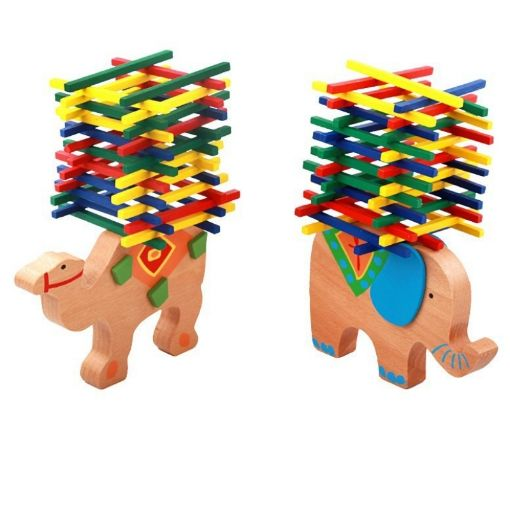 Picture of Mideer木质彩棒游戏 大象骆驼平衡木棒