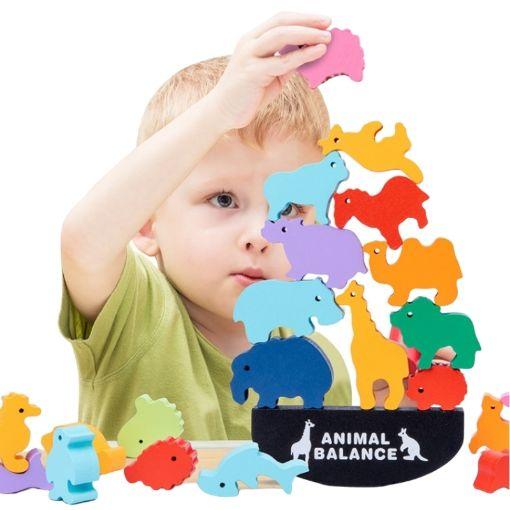 Picture of 新款儿童叠叠乐积木动物平衡玩具