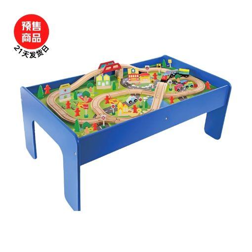 Picture of Onshine火车轨道积木木质电动车头套装3-6周岁宜家大块儿童玩具