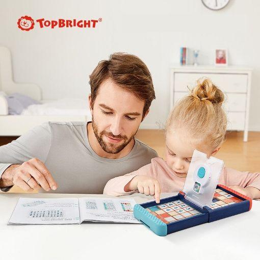 Picture of Topbright 特宝儿华容道数字拼图3合1儿童逻辑思维训练玩具智力互动对战桌游